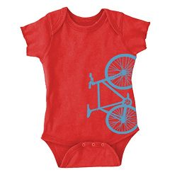 I Heart Analogue Fixed Gear Bicycle Fixie Bike Baby Onesie. Red. 6 Months