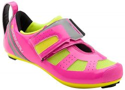 Louis Garneau – Women's Tri X-Speed 3 Triathlon Bike Shoes, Pink Glow/Bright Yellow, ...