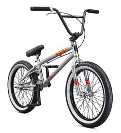 Mongoose Legion L100 20″ Freestyle BMX Bike, Silver