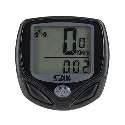 WOTOW Wireless Bike Computer, Large LCD Digital Display with Backlight Waterproof Bicycle Bike S ...