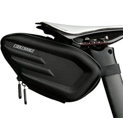 Cool Change Bike Wedge Saddle Bag, 3D Shell Waterproof Mountain Road Bicycle Under Seat Pack, Re ...