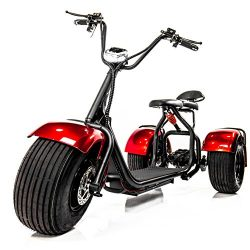 E-Wheels EW-21 CHOPPER TRIKE Fat Tires 3-wheel Electric Scooter