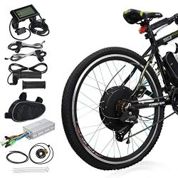 Voilamart 26″ Rear Wheel Electric Bicycle Conversion Kit, 48V 1000W E-bike Motor Kit with  ...