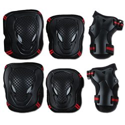 GUSTAVE Protective Pads for Children & Adults Cycling Roller Skating Knee Elbow Wrist Skateb ...