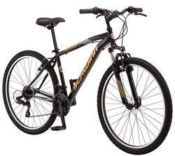 Schwinn Men's High Timber Mountain Bicycle, 18″/Medium, Black