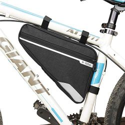 UPANBIKE Bike Front Frame Bag Front Tube Triangle Bag 1.2L Waterproof Polyerter Pack for Mountai ...