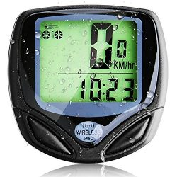 Basecamp Wireless Bike Computer, Wireless Bicycle Speedometer/Cycling Odometer with Waterproof D ...