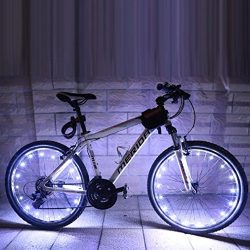 JPOQW LED Bike Wheel Light, 2.2M/20LEDs Bicycle Wheel Spoke/Light – Cool Bike Accessories, ...