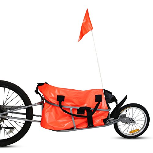 Peach Tree Pet Dog Bike Bicycle Trailer Cargo Stroller Jogger w/Orange Bag