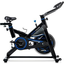 Merax Deluxe indoor Cycling Bike Cycle Trainer Exercise Bicycle (Black w/Blue)