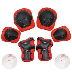 Yooan Sports Protective Gear Safety Set Knee and Elbow Pads with Wrist Guards Equipment for Kids ...