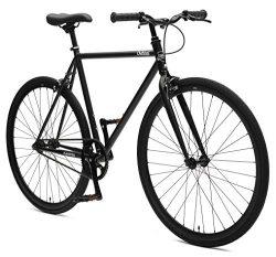 Critical Cycles Harper Single-Speed Fixed Gear Urban Commuter Bike; 60cm, Matte Black