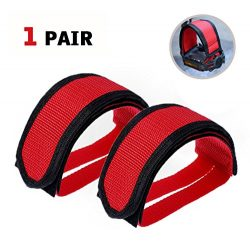 SBYURE 1 Pairs Bicycle Pedal Straps Pedal Toe Clips Straps Tape Slip Double Adhesive Straps for  ...