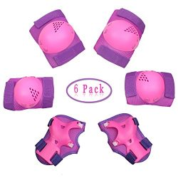 Dostar Kids Protective Gear Set – Children Adjustable Safety Knee Pads Elbow Roller Wrist  ...