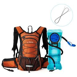 MIRACOL Insulated Hydration Backpack Pack with 2L BPA Free water bladder and Long Tube Brush, Ke ...