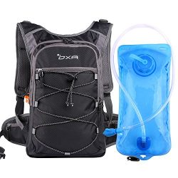 OXA Hydration Backpack with 2L Water Bladder, Thermal Insulation Layer Keeps Water Cool (up to 4 ...