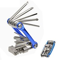 Hltd Multi Function Bike Bicycle Repair Tool Kit Folding Cycling Maintenance 11 in 1 Multi Tool  ...