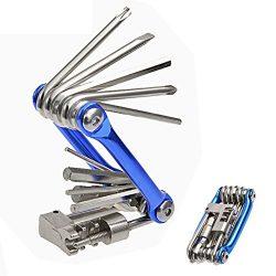 Hltd Multi Function Bike Bicycle Repair Tool Kit Folding Cycling Maintenance 11 in 1 Multi Tool  ...