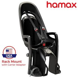 Hamax Zenith Rear Child Bike Seat Grey/White, Rack Mount