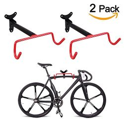 PHUNAYA Bike Hanger Wall Mount Horizontal Foldable Bicycle Hook for Garage Bicycle Wall Holder H ...