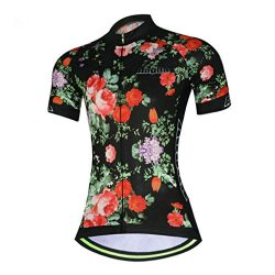 Womens Cycling Jersey Aogda Short Sleeve Bicycle Girls Bike Clothing Wear/Shirt D914 (A Shirt, M)