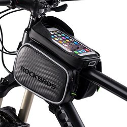 RockBros Bike Bag Waterproof Top Tube Phone Bag Front Frame Mountain Bicycle Touch Screen Cell P ...