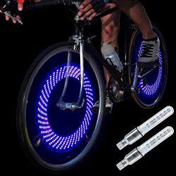 DAWAY A08 Bike Tire Valve Stem Lights – Cool Led Bicycle Wheel Light, 2 Pack, Waterproof,  ...