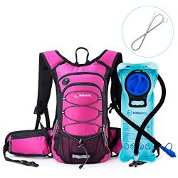 MIRACOL Insulated Hydration Backpack Pack with 2L BPA Free water bladder and Long Tube Brush, Pr ...