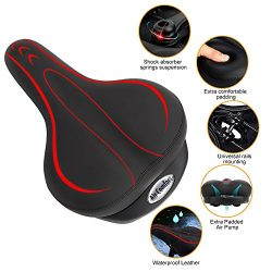 Yoleo Comfort Bicycle Seat, Oversize Bicycle Seat Saddle Replacement w/2018 New Design Air Cushi ...