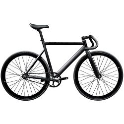 State Bicycle Black Label 6061 Aluminum Fixed Gear Bike, 57cm/Large, Matte Black