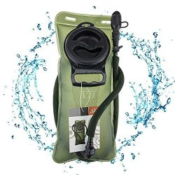 WACOOL 2L 2Liter 70oz TPU Running Cycling Hiking BPA Free Hydration Pack Bladder, Leakproof Wate ...