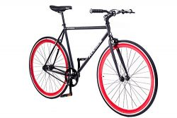 ACEGER 700C Single-speed Fixed Gear Urban Commuter Bike (Black, 58cm)