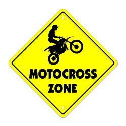 Motocross-m Crossing Sign Zone Xing | Indoor/Outdoor | 12″ Tall dirt bike supercross cycle ...