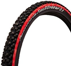 panaracer Fire XC Pro Bicycle Tire (Wire Bead, 26×2.1, Black/Red)