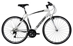 Tommaso La Forma Lightweight Aluminum Hybrid Bike -White/Black – Medium