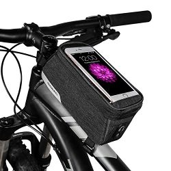 ArcEnCiel Cycling Frame Bag Head Tube Bag Front Top Tube Frame Pannier Double Bag Pouch Holder C ...