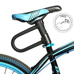 Heavy Duty Combination Bike U Lock,Bicycle U Lock Cycling Cable U Lock Anti-theft Cycling Chain  ...
