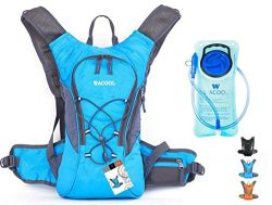 WACOOL Waterproof Hydration Bladder Pack, Cycling Backpack, Lightweight Daypack (Blue)