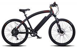 ProdecoTech Phantom X R V5 36V600W 8 Speed Electric Bicycle 14Ah Samsung Li Ion, Matte Black, 18 ...