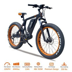 VTUVIA Electric Bike With Advanced Middle Hub Brushless motor And 48V 13Ah Long-lasting Removabl ...