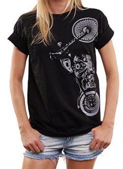 Motorbike Clothing Women – Oversized Biker T-Shirt – Motorcycle Plus Size Top Black  ...