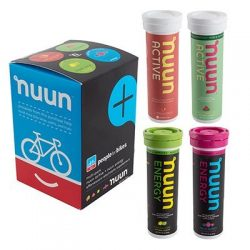 Nuun Hydration Tablets: People for Bikes Mixed Pack, Box of 4 Tubes by Nuun