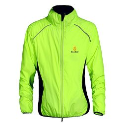 Wolfbike Cycling Jacket Jersey Long Sleeve Wind Coat, Color: Green, Size: XXL
