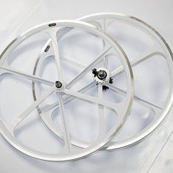 Teny Rim Bicycle Wheelset 6-Spoke MAG Wheels 700c For Fixie or Fixed Gear. Black, White or Red.  ...
