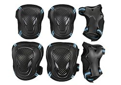 Kid's Adults Sports Protective Gear Skating Roller Blading Wrist Knee and Elbow Pads Set R ...