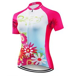 NASHRIO Women's Cycling Jersey Short Sleeve Road Bike Biking Shirt Tops Bicycle Clothes &# ...