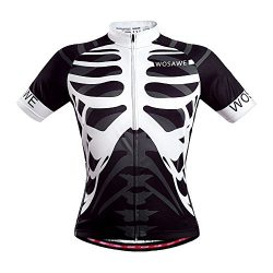 WOSAWE Mens Breathable Cycling Jersey (Skeleton, L)