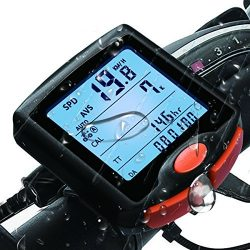 FitMaker Bike Computer, Waterproof Multifunction Cycling Speedometer with Backlit Display, 60g W ...