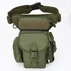 Multipurpose Tactical Fanny Pack Walking Man Military Drop Leg Bag Tool Thigh EDC Waist Belt Pac ...