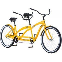 26″ Tandem Bike Cruiser Giant Bicycle Women Men Cycling Road Bikes 2 Seater Bicycles Adult ...